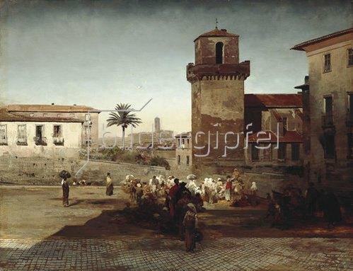 Oswald Achenbach: S. Pietro in Vincoli in Rom. 1883