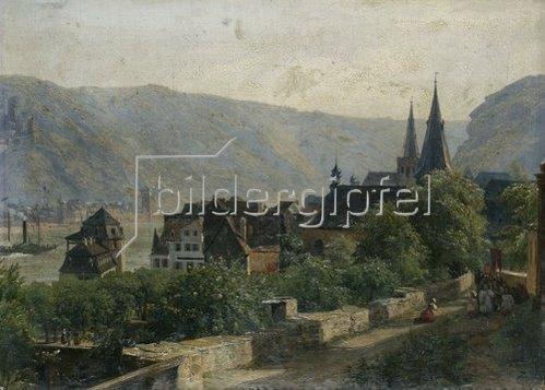 Rudolf von Normann: St. Goar und St. Goarshausen (Rheinlandschaft). 1839