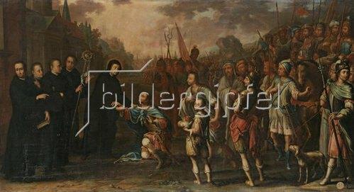 Hermann Veltmann: Demütigung eines Kaisers vor einem Abt. 1676/1723