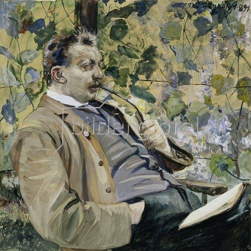 Bernhard Pankok: Herr in der Laube. 1894