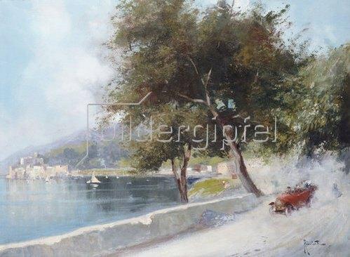 Oscar Ricciardi: Autorennen am See (Corsa Sul Lago).