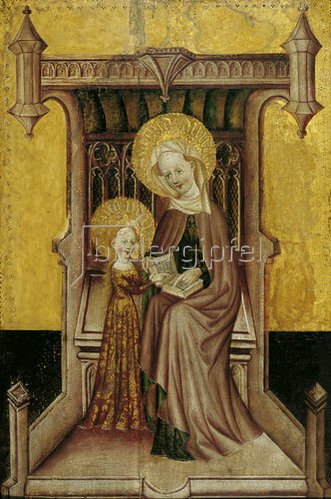 Konrad von Soest: Unterweisung Mariens. Um 1400