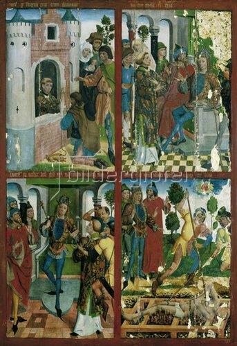 Johann Koerbecke: Tafel mit der Legende des Hl. Laurentius. Um 1489