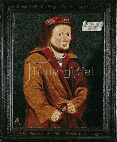 Unbekannter Künstler: Edelherr Widukind von Rheda als Stifter der Zisterzienserabtei Marienfeld. 1650