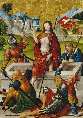 Jan Baegert: Altar aus der Kirchspielkirche in Liesborn: Auferstehung Christi. 1517/1522