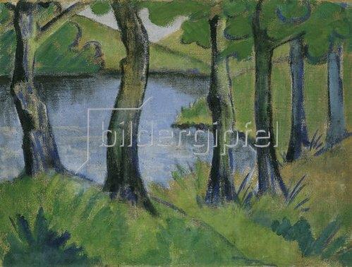 Otto Mueller: Waldsee. 1915