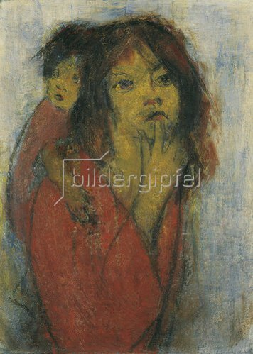 Christian Rohlfs: Zigeunerin mit Kind. 1937