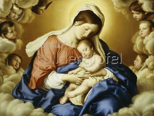 Giovanni Battista (Sassoferrato) Salvi: Madonna mit Kind.