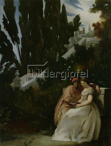 Anselm Feuerbach: Paolo und Francesca. Um 1864