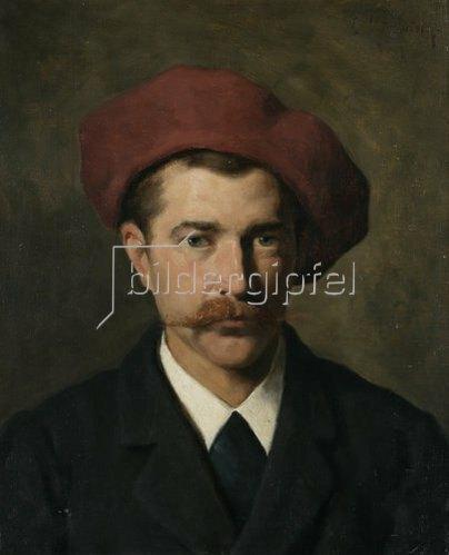 Ludwig von Zumbusch: Joseph Wopfner.,Maler, Bildnis, 1882