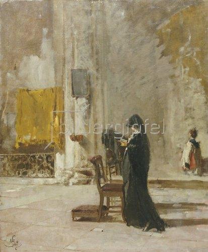 Mose Bianchi: Beim Gebet in der Kirche.
