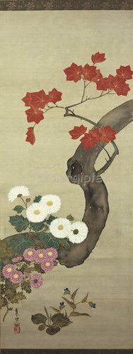 Suzuki Kiitsu: Herbstblumen.