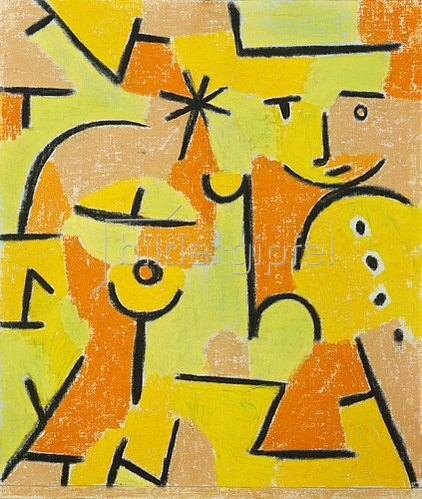 Paul Klee: Figur in gelb. 1937