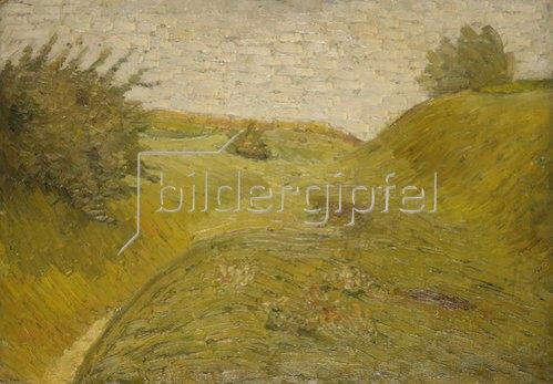 Wilhelm Morgner: Hügelige Felder. 1909