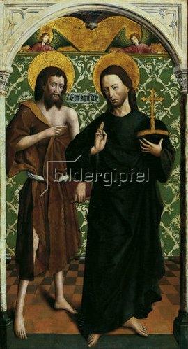 Johann Koerbecke: Teil eines Johannes-Altares: Christus und Johannes der Täufer. Um 1470