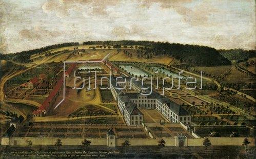 Unbekannter Künstler: Vogelschau des Klosters Dalheim. Um 1737