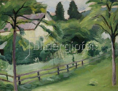 August Macke: Landhaus mit Garten. 1910
