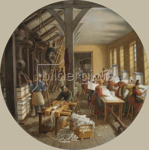 Jean-Charles Develly: In einer Papierfabrik. Zwischen 1820-35