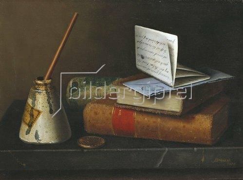 William Michael Harnett: Stillleben mit einem Brief an Mr. Lask. 1879