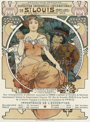 Alfons Mucha: Plakat für die Weltausstellung in St. Louis. 1903