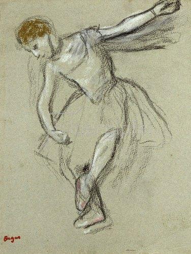 Edgar Degas: Eine Tänzerin im Profil.