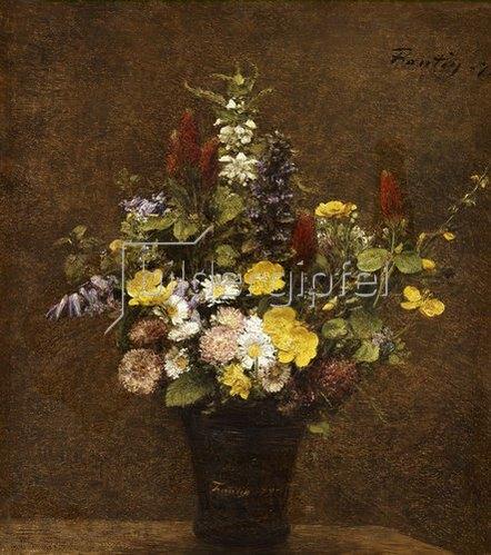 Henri de Fantin-Latour: Wiesenblumen.