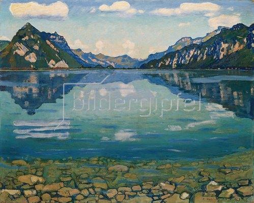 Ferdinand Hodler: Der Thunersee. 1904