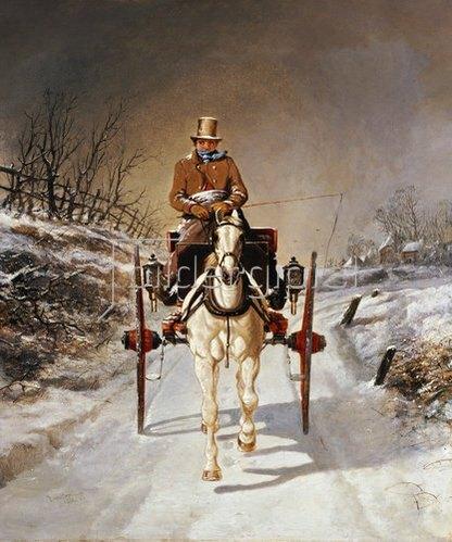 Benjamin Herring d.J.: Winterliche Kutschfahrt. 1862