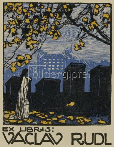 Otakar Stáfl: Exlibris Vaclav Rudl. 1911
