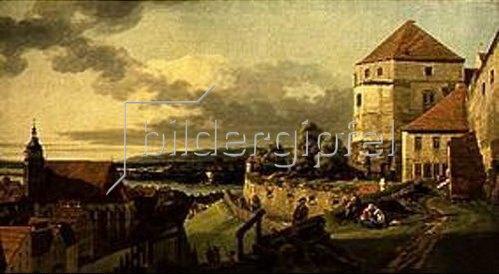Bernardo (Canaletto) Bellotto: Blick vom Schloss Sonnenstein auf Pirna.