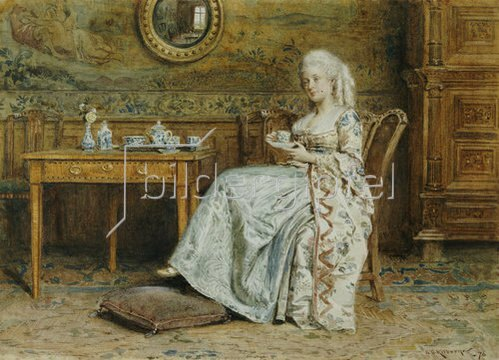 George Goodwin Kilburne: Afternoon Tea.