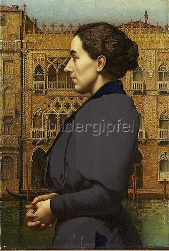 Karl M Pidoll zu Quintenbach: Bildnis eines Fräulein Coßmann vor der Ca' d'Oro in Venedig