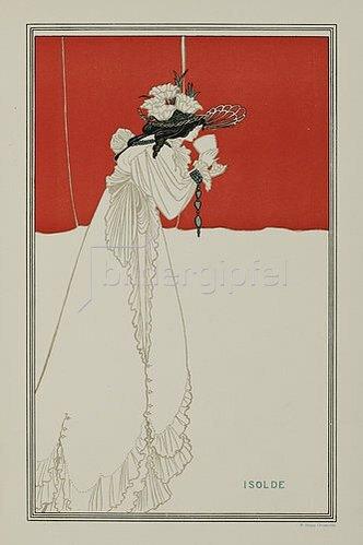Aubrey Vincent Beardsley: Isolde (aus: 'Pan', Jg. 5, 1899, Heft  4). 1896