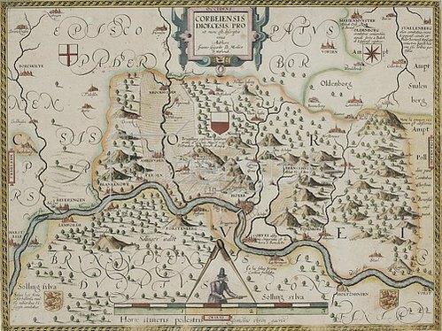 Johannes Gigas: Pauluskarte des Hochstifts Münster aus: 'Prodromus Geographicus...'. Köln, 1620