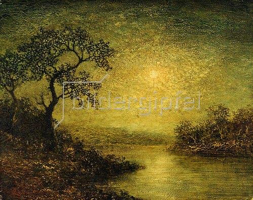 Ralph Albert Blakelock: Landschaft im Mondschein.