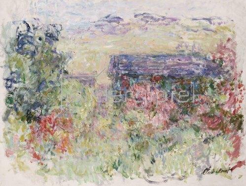 Claude Monet: Haus mit Blick durch die Rosen. Um 1925-26