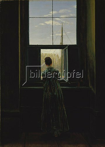 Caspar David Friedrich: Frau am Fenster. 1822(?).