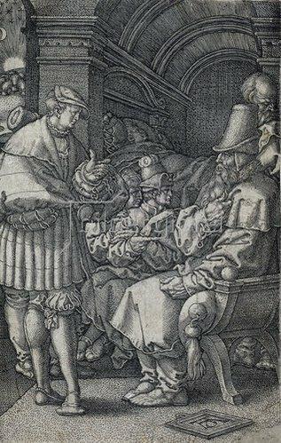 Heinrich Aldegrever: Die Josephsgeschichte: Josephs Traumdeutung. 1532
