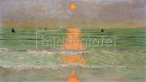 Felix Vallotton: Sonnenuntergang. 1913