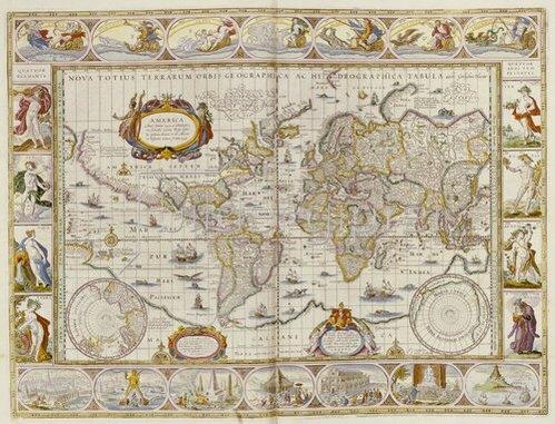 Erdkarte: Weltkarte. Novus Atlas, Das Ist Welt-Beschreibung. Amsterdam, 1649
