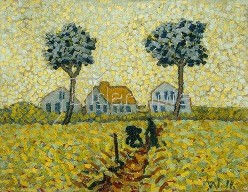 Wilhelm Morgner: Landschaft. 1911