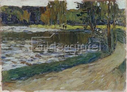 Wassily Kandinsky: Englischer Garten in München. 1901.