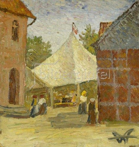 Wilhelm Morgner: Festplatz / Gewandfalten. 1909