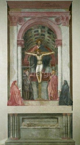 Masaccio: Heilige Dreifaltigkeit. 1427-28