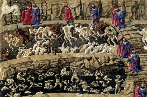 Sandro Botticelli: Die Göttliche Komödie von von Dante, Inferno XXXI. 1490-96
