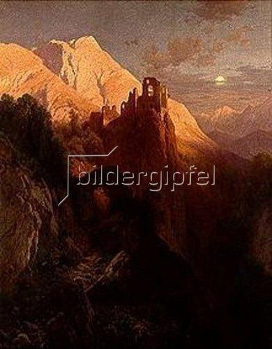 Adalbert von Waagen: Die Ruine Kühbach bei Bozen. 1883.