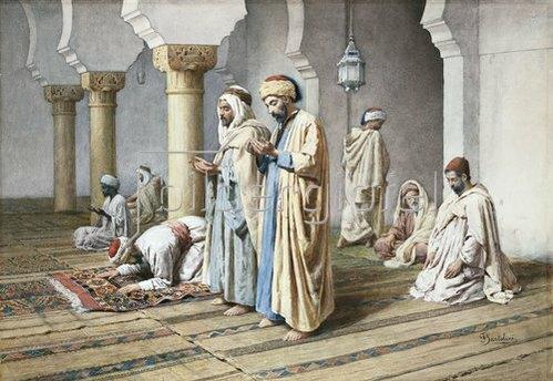 Frederico Bartolini: Araber beim Gebet. 1884