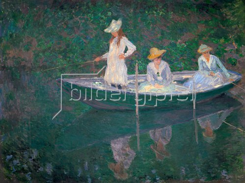 Claude Monet: Eine Bootspartie in Giverny. Um 1887