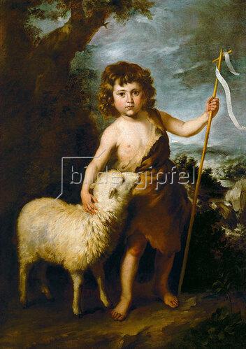 Bartolomé Estéban (Werktatt) Murillo: Johannes der Täufer als Kind. Um 1650/55