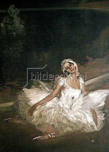 Sir John Lavery: Der sterbende Schwan: Anna Pawlowa. 1911